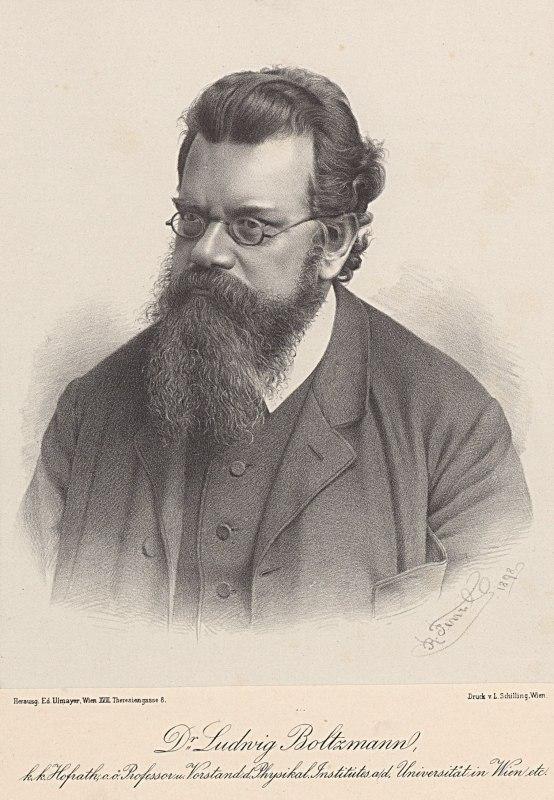 boltzmann ludwig 1844 1906 physik 1898 lithographie v r fenzl 135 608