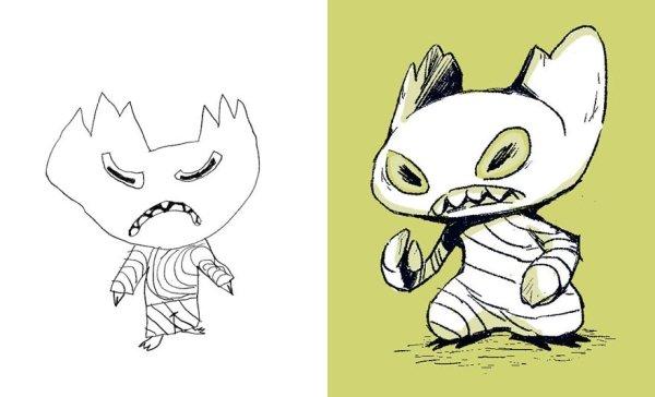 artists transform kids doodles art monsters12