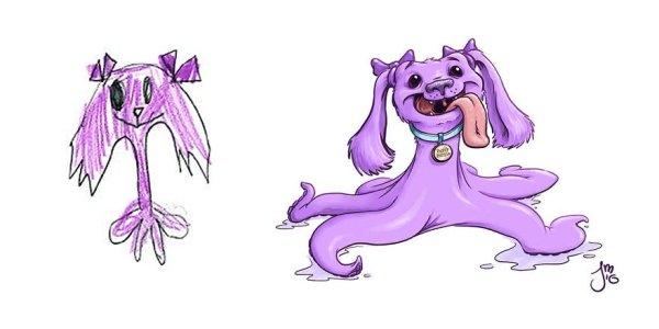 artists transform kids doodles art monsters18
