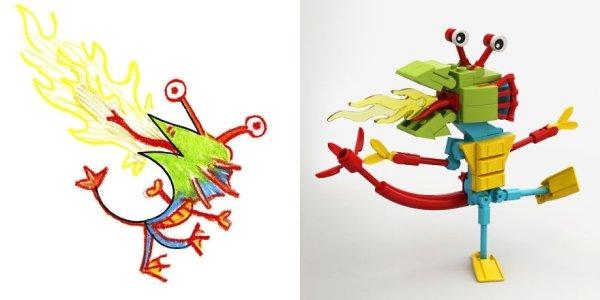 artists transform kids doodles art monsters19