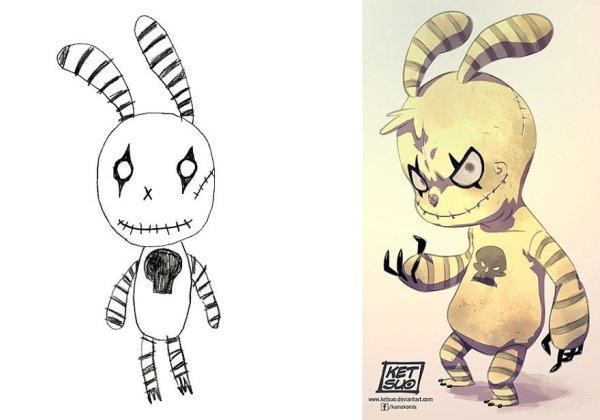 artists transform kids doodles art monsters26