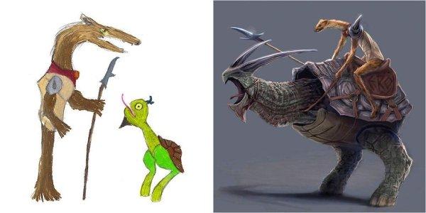 artists transform kids doodles art monsters29
