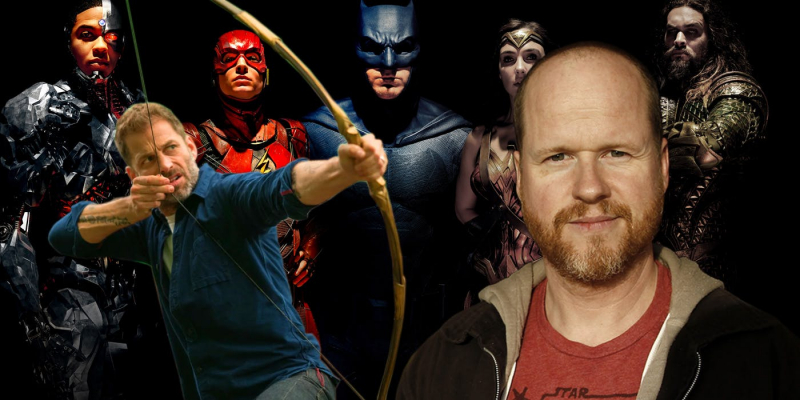 zack snyder and joss whedon and the justice league