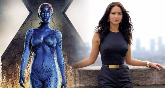 sexiest and hottest female villains mystique jennifer lawrence