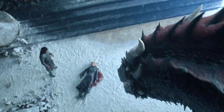 game of thrones finale jon drogon and daenerys