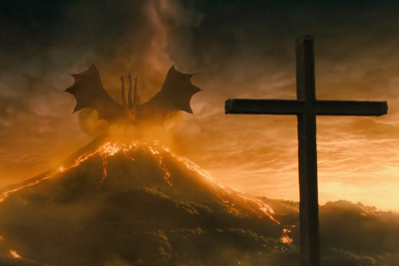 godzilla king of the monsters king ghidorah the exorcist pazuzu reference