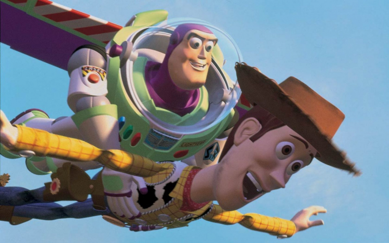 buzz lightyear and woody flying wallpaper 4