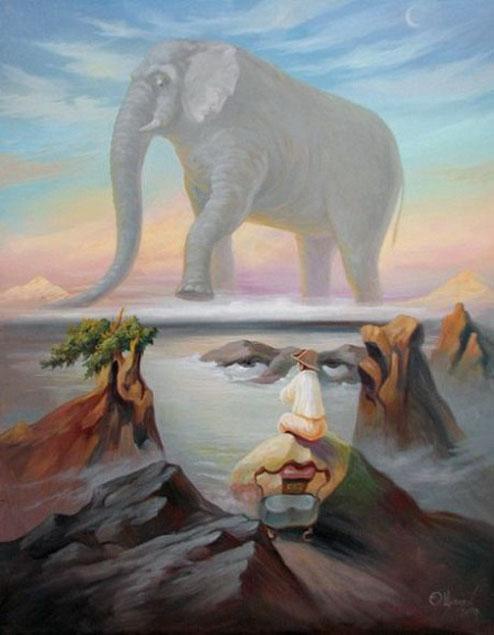 Hoang mang với những bức tranh theo phong cách ảo ảnh quang học của họa sĩ Oleg Shupliak