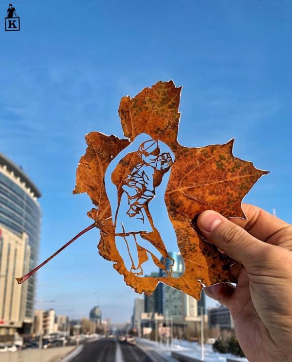 'Xao xuyến' trước những tác phẩm nghệ thuật độc đáo được thể hiện bằng lá cây