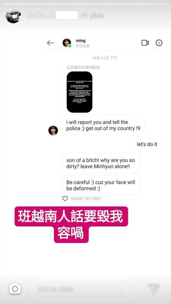 Sasaeng fan Minhyun cho rằng fan Việt ảo tưởng sau khi bị tấn công bởi nhiều inbox 'tẩy chay'