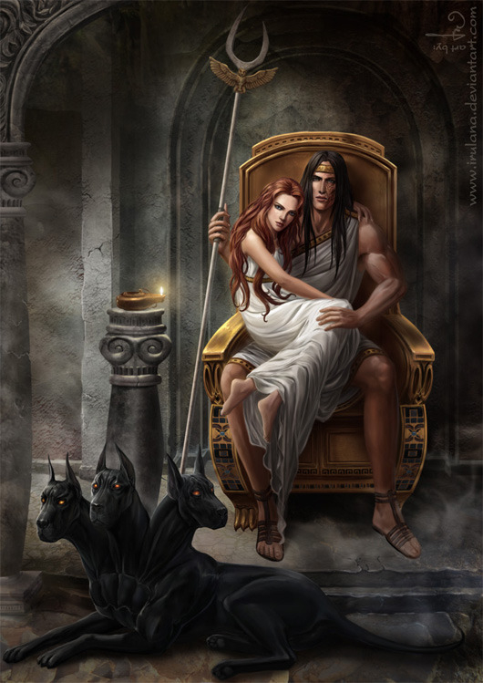 hades persephone and cerberus hades and persephone 41679766 530 749