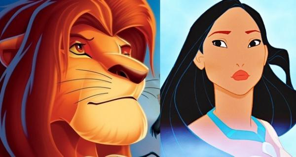 6 lion king and pocahontas