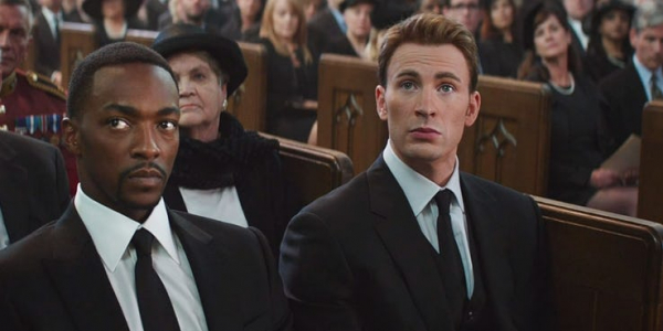 captain america at peggy carter funeral