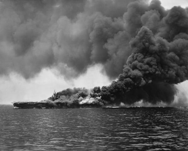 kamikaze explosion