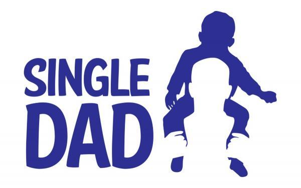 single dad graphic white