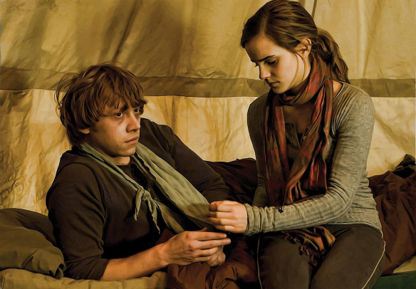 ron and hermione deathly hallows part1 harry potter 15280534 1350 939