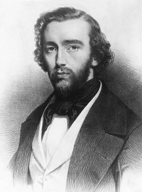 young adolphe sax drawing